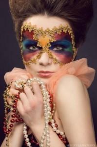 маскарадный макияж фото