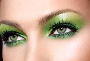 Макияж с зелеными тенями фото