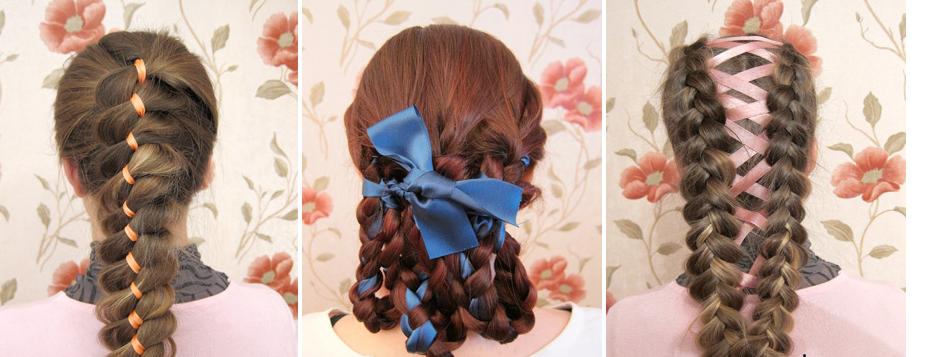 плетение косичек на короткие и средние волосы фото.