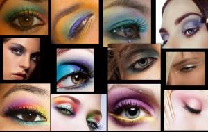 Праздничный макияж глаз фото