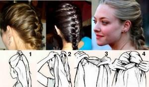 Плетение французской косы фото